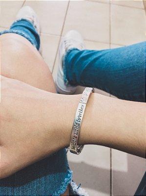 Pulseira bracelete lá vitta, prateada - REF P492