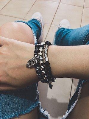 _Conjunto de pulseiras 3 peças, coruja - REF P517