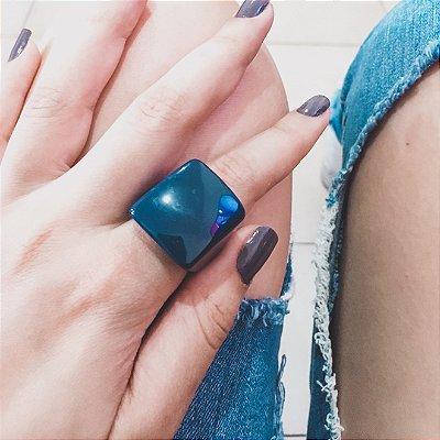 _Anel resina, azul marinho - REF A306