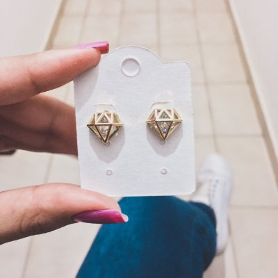 Brinco diamond, dourado - REF B296