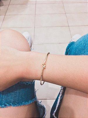 _Pulseira bracelete, mini nó, dourado - REF P533
