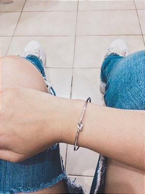 _Pulseira bracelete, mini nó, prateado - REF P534