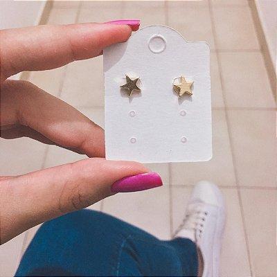 Brinco mini, estrela, dourado - REF B308