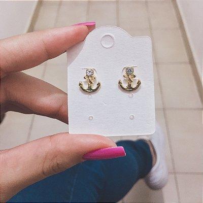 Brinco mini, âncora, dourado - REF B321