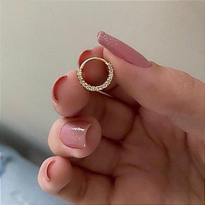 Piercing de furo, argolinha tust, dourado - REF X075