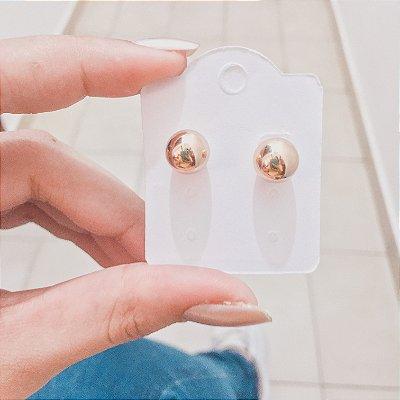 Brinco mini, basic, dourado G - REF B401