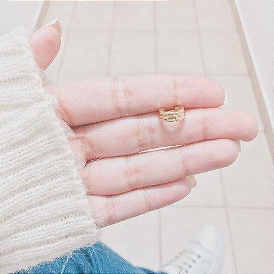 Piercing de furo, argolinha luma, dourada - REF X084
