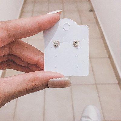 Brinco mini, prana, ponto de luz, dourado - REF B456