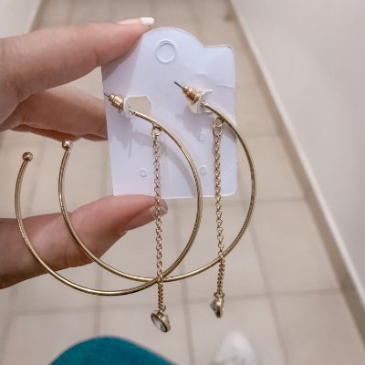 Brinco new collection, argola, tabata, dourada - REF B467