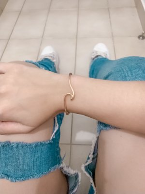 Pulseira bracelete, bohemia, maresia, dourada - REF P594