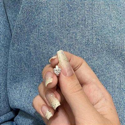 Piercing de furo, argolinha coração shine, prateado - REF X113