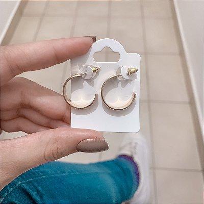 Brinco new collection, amanda, argola tradição, dourada - REF B602