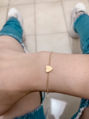 Pulseira bohemia, love simple, dourada - REF P599
