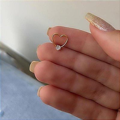 Piercing de furo, love shine (pontual), dourado - REF X205