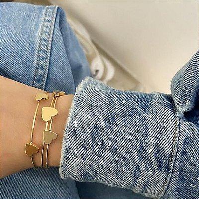 Pulseira bracelete amanda, big love, dourado - REF P650