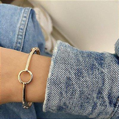 Pulseira bracelete amanda, circle, dourada - REF P654