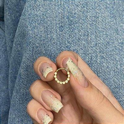 Piercing de furo, argolinha, cintia, dourado - REF X220