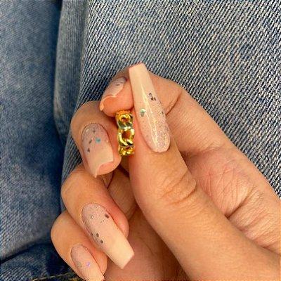 Piercing fake, day, trança, dourado - REF X229