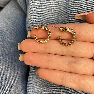 Brinco amanda, mini argolinha, cintia, dourado - REF B890