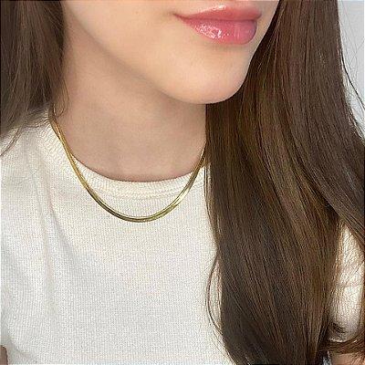 Colar curto, afrodite, line, dourado - REF C073