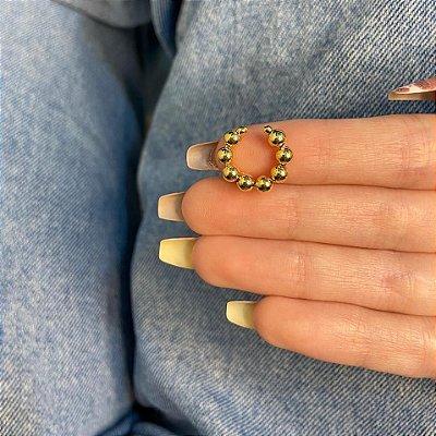 Piercing fake, outono, dourado, tam. P - REF X256