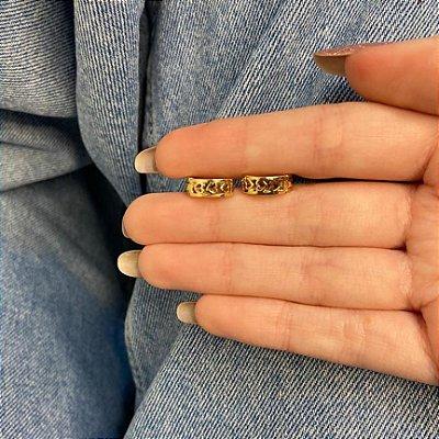 Brinco mini argolinha, amanda, biana, dourada - REF B960
