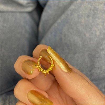 Piercing fake, jack, septo, bergen, dourado - REF X274