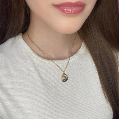 Colar curto, amanda, olho de hórus, dourado - REF C185