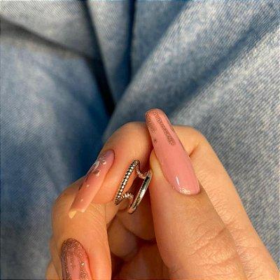 Piercing fake, letícia, reinado, prateado - REF X311