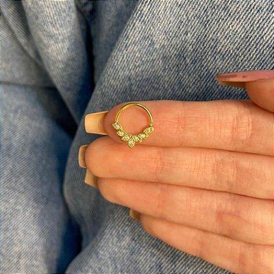 Piercing de furo, argolinha, tabata, dourada - REF X311