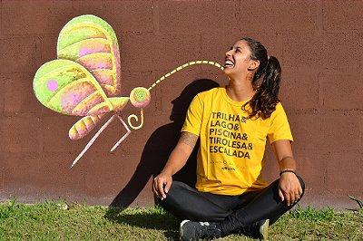Camiseta Trilha & Lago & Piscina & Tirolesa & Escalada