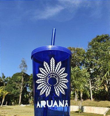 Copo Azul Beba Mais Água