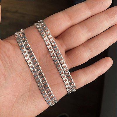 Corrente Masculina Prata 925 5mm Elo Grumet 70cm