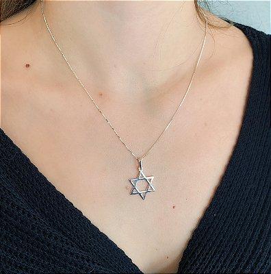 Colar de Prata 925 Estrela de Davi Reforçada