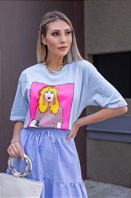 T-Shirt Estampa Moça