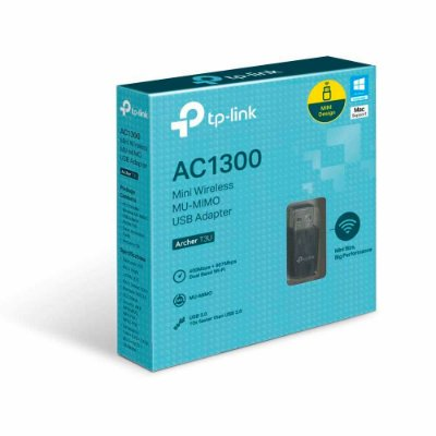 ADAPTADOR USB WIRELESS TP-LINK USB NANO T3U AC1300