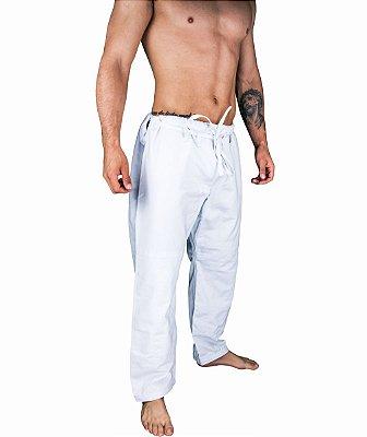 Calças BJJ de BRIM cor branco - linha TRADICIONAL