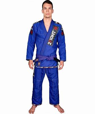Kimono BJJ - linha SLIM cor Azul