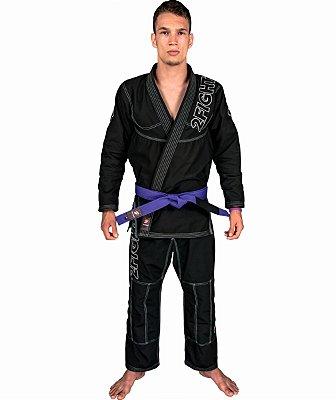 Kimono BJJ - linha SLIM Rip Stop cor Preto