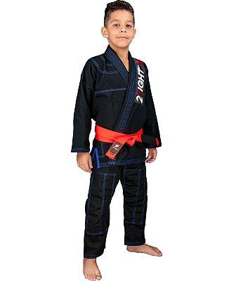 Kimono BJJ de Brim - linha JUVENIL cor Preto