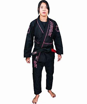 Kimono BJJ FEMININO - linha RIP STOP cor Preto