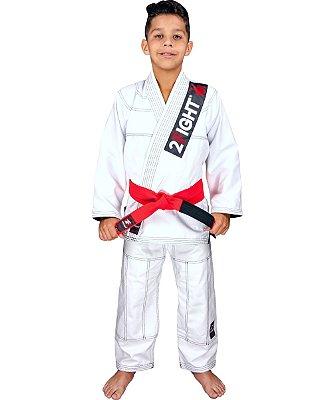 Kimono BJJ INFANTIL - linha Brim cor Branco