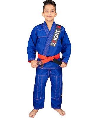 Kimono BJJ INFANTIL - linha RIP STOP cor Azul