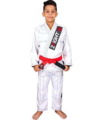 Kimono BJJ INFANTIL - linha RIP STOP cor Branco