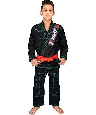 Kimono BJJ INFANTIL - linha RIP STOP cor Preto