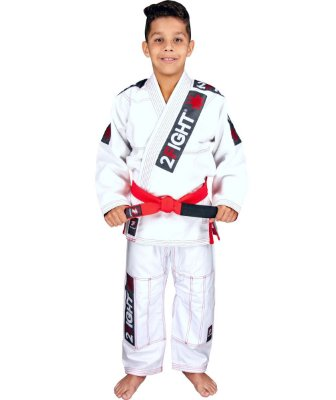 Kimono BJJ INFANTIL - linha Super Trançadinho cor Branco