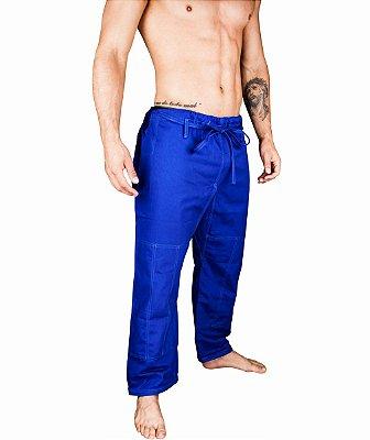 Calças BJJ de BRIM cor azul - linha TRADICIONAL