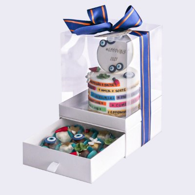 Mini bolo Good Vibes 10cm  + 16 doces