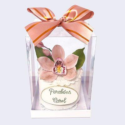 Mini bolo Orquidea 8 cm