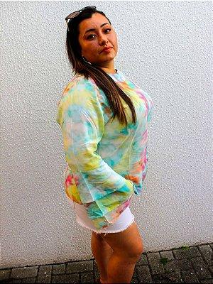 Blusa Duda em Rayon Tie Dye